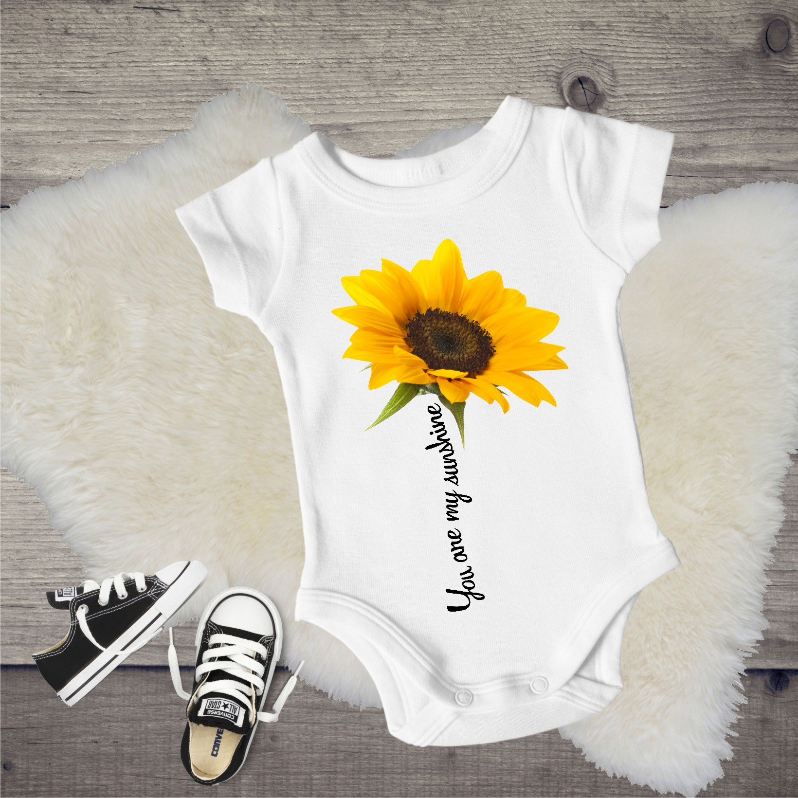 baby onesie - you are my sunshine